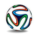 Реалистический шарик футбола стоковые фото