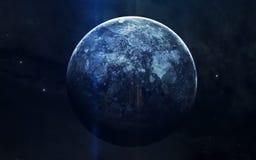 Реалистическое изображение Нептуна, планеты солнечной системы Воспитательное изображение Элементы этого изображения поставленные  стоковые фото