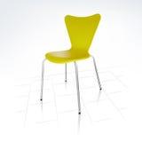 реалистическое стула зеленое самомоднейшее Иллюстрация штока
