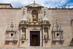Реальное Monasterio de Santa Maria de Poblet стоковые фото