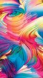 Реальность жидкостного цвета Стоковое Изображение
