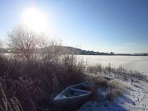 реальные ландшафты зимы и красота зимы стоковое фото