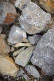 Реальные серые естественные камни Стоковое фото RF
