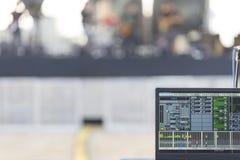 Реальный ядровый концерт пульта управления смесителя музыки Стоковые Фотографии RF