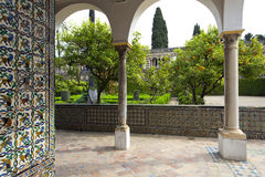 Реальный Alcazar в Севилье, Андалусии Стоковое Изображение RF