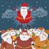 реальный santa Стоковые Фото