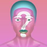 Реалистическая женщина красоты с розовой кожей Стоковые Изображения RF