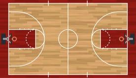 Реалистическая иллюстрация баскетбольной площадки иллюстрация вектора