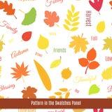 Реалистическая картина листьев осени безшовная Стоковая Фотография RF
