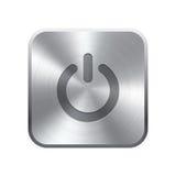 Реалистическая кнопка металла иллюстрация вектора