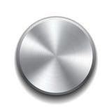 Реалистическая кнопка металла Стоковая Фотография