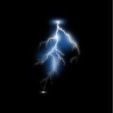 Реалистическая молния Стоковые Изображения RF