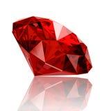 Реалистическая рубиновая драгоценная камень Стоковые Изображения RF