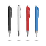 Реалистическая ручка 4 для дизайна идентичности Стоковые Фотографии RF