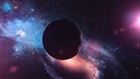 Реалистическая луна от космоса иллюстрация штока
