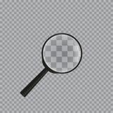 Реалистическая лупа на checkered предпосылке бесплатная иллюстрация