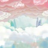 Реалистическая фантастическая сцена стиля шаржа Стоковая Фотография RF