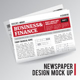 Реалистическая экономическая газета иллюстрация вектора