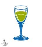 Реалистическая 3d рюмка, иллюстрация темы напитка декоративно Стоковые Фото