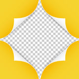 Реалистические бумажные углы изолированные на прозрачной предпосылке Стоковая Фотография RF