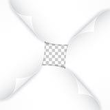 Реалистические бумажные углы изолированные на прозрачной предпосылке Стоковая Фотография