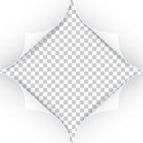 Реалистические бумажные углы на прозрачной предпосылке Стоковое фото RF