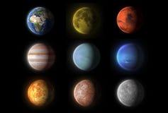 Реалистические планеты собрание, наука иллюстрация вектора