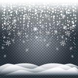 Реалистические снежности снега иллюстрация штока