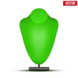 Реалистический зеленый думмичный вектор бюста ожерелья Стоковые Фото
