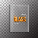 Реалистический значок шаблона стеклянной пластинки вектора Пластмасса вектора EPS10 Стоковое Изображение
