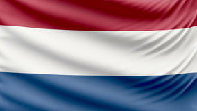 Реалистический красивый нидерландский флаг 4k акции видеоматериалы