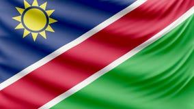 Реалистический красивый флаг 4k Намибии акции видеоматериалы