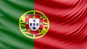 Реалистический красивый флаг 4k Португалии видеоматериал