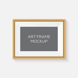 Реалистический модель-макет картинной рамки модель-макет рамки искусства вектора Стоковое Фото