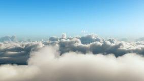 Реалистический полет через облака иллюстрация вектора