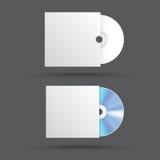 Реалистический пустой КОМПАКТНЫЙ ДИСК компакт-диска или DVD изолированные на белой предпосылке Стоковая Фотография RF