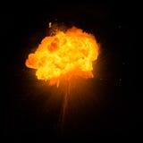 Реалистический пламенистый взрыв Стоковое фото RF
