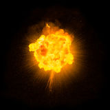 Реалистический пламенистый взрыв Стоковая Фотография