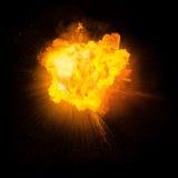 Реалистический пламенистый взрыв Стоковое Изображение RF