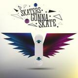 Реалистический скейтборд вектора Стоковые Фото