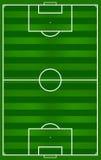 Реалистический футбол травы Стоковое Изображение