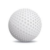 Реалистический шар для игры в гольф Стоковое Фото