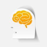Реалистический элемент дизайна: головной мозг стороны Стоковое фото RF