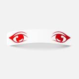 Реалистический элемент дизайна: глаза Стоковое Изображение RF
