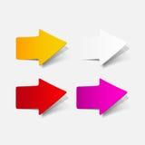 Реалистический элемент дизайна: стрелка Стоковое Изображение RF