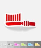 Реалистический элемент дизайна toothbrush бесплатная иллюстрация