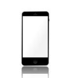 Реалистический smartphone с пустым сенсорным экраном иллюстрация штока