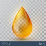 Реалистическое желтое падение масла на белой предпосылке бесплатная иллюстрация