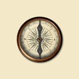 Реалистическое изображение компаса изолированного годом сбора винограда иллюстрация Стоковая Фотография