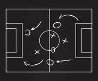 Реалистическое классн классный рисуя стратегию футбола или футбольной игры также вектор иллюстрации притяжки corel Стоковые Фото